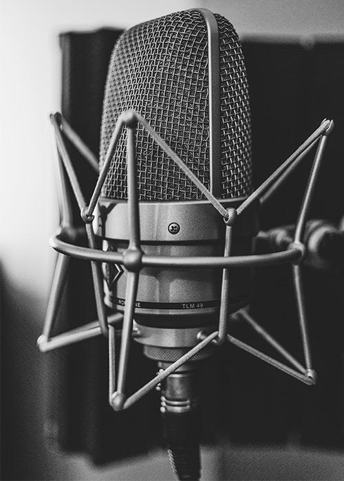 Mikrofon, närbild